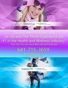 """Do you wonder what this """"Thrive"""" talk is all about? Listen to this pre~recorded call...I can help you get started...Let's Thrive together! Jennzthrivin.le-vel.com"""