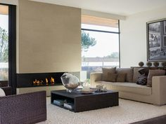 Cozy Living Room Modern Fireplace Burlingame Eichler Rebuild www.bedhomes.com