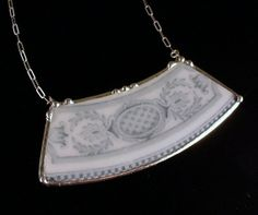 Broken China Jewelry Plate Necklace Ornate by dishfunctionldesigns, $50.00