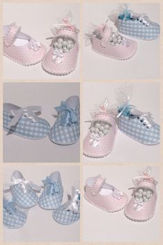Boy or Girl Baby Shoes Favors for baby shower, baptism, christening by Simply Fab & Chic