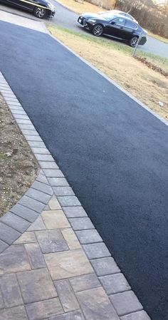 From sunrise to sunset, this driveway will look amazing with Cambridge Pavingstones with ArmorTec. Mix and match your pavers to increase curb appeal. Concrete Paving, Concrete Stone, Paving Stones, Paver Sidewalk, Home Window Repair, Paving Contractors, West Islip, Home Improvement Contractors, Front Steps