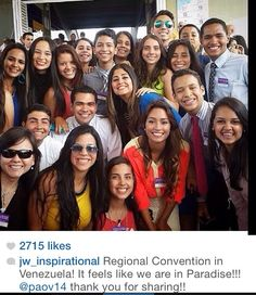 Jehovah's happy people at Regional Convention in Venezuela. Feeling like being in paradise♥