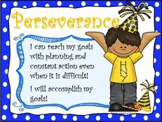 Perseverance Character Education and S.M.A.R.T. Goals Packet