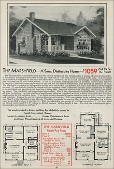 1931 Aladdin - Marshfield (Plan B) - my dream house when I retire; with a white picket fence and a vegetable garden in the backyard.