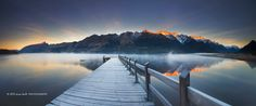 Thaw - Glenorchy New Zealand A shot from a frosty morning along the shores of Lake Wakatipu from Glenorchy as then sun rose from behind. The mists were dancing magically on the lake to give this an incredible atmosphere. Glenorchy New Zealand, Landscape Photography, Nature Photography, Inspiring Photography, Travel Photography, Cool Pictures, Cool Photos, Lake Wakatipu, Oceans Of The World