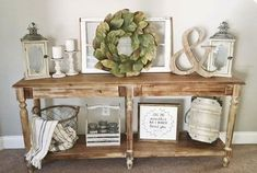 35 awesome entry table ideas to give some inspiration on updating your home or a. 35 awesome entry table ideas to give some inspiration on updating your home or adding personality a Rustic Entryway, Entryway Decor, Entryway Ideas, Hallway Table Decor, Foyer Bench, Mantel Ideas, Diy Bench, Magnolia Homes, Magnolia Home Decor
