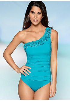 Kenneth Cole Haute One Shoulder One Piece Swim Suit