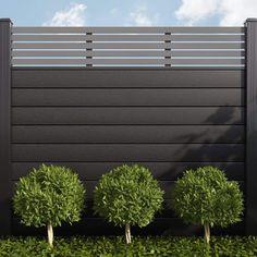 Slatted Fence Panels, Fence Slats, Diy Privacy Fence, Privacy Fence Designs, Metal Fence, House Fence Design, Wood Fence Design, Modern Fence Design, Gate Design