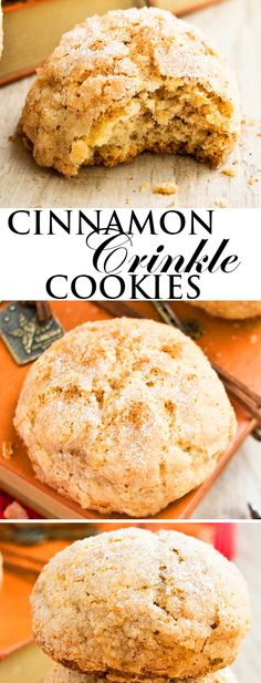 These easy CINNAMON CRINKLE COOKIES are soft and cake-like on the inside but crispy and sugary on the outside. They are packed with cinnamon spice flavor. Great cookie recipe for Thanksgiving and Christmas cookie exchanges! From cakewhiz.com