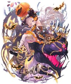 Lord, ahead of today's standing picture of `` Hallow '' scheduled to appear in `` Game Character Design, Character Design Inspiration, Character Concept, Character Art, Anime Halloween, Anime Girl Cute, Anime Art Girl, Fantasy Characters, Anime Characters
