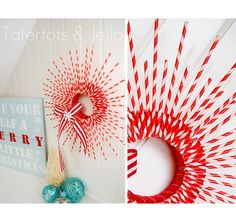 A really cool Christmas Wreath DIY idea. Follow the link for another 11 ideas too