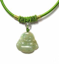Vivre dans la joie, Collier heureux de Bouddha de Jade, Pendentif 30x30x4 mm, Collier 45 cm- Fortune Feng Shui Bijoux de Feng Shui & Fortune Jewelry, http://www.amazon.fr/dp/B00DDJ7NXC/ref=cm_sw_r_pi_dp_e2Xssb0JDZ5JM