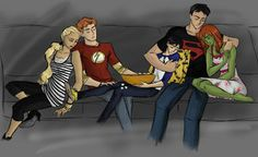More Young Justice. I can't get enough of this show and the fandom. Young Justice Robin, Young Justice League, Batman, Univers Dc, Wally West, Kid Flash, Dc Memes, Bat Family, Nightwing