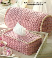 FEMININE Boutique Set/Tissue Cover/Pillow/Crochet Pattern INSTRUCTIONS ONLY