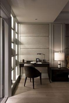 Modern classic interior Taiwan (workplace) Неоклассический интерьер в Тайване (рабочее место):