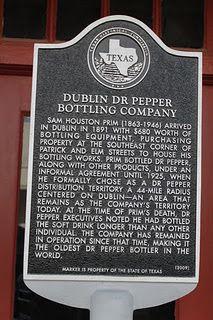 Dublin Dr Pepper Historical Marker