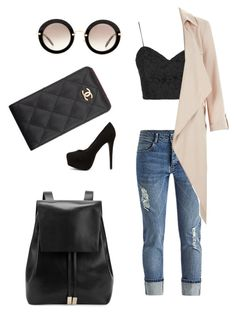 """""""Untitled #4"""" by signe-bruun-gaarde on Polyvore featuring Topshop, Gvyn, Nly Shoes, Miu Miu, Chanel, women's clothing, women, female, woman and misses"""