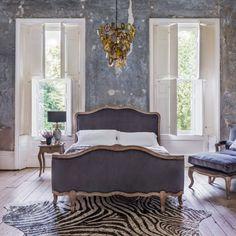 The Antoinette King Size Bed With Footboard - Beds - Bedroom - Kitchen, Bed Master Bedroom, Bedroom Decor, Bedroom Ideas, Neon Bedroom, Bedroom Designs, King Size Bedroom Sets, Dreams Beds, Bed Furniture, Luxurious Bedrooms