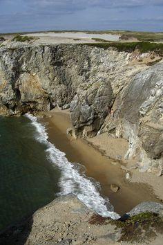 Het ruige landschap van schiereiland Quiberon aan de zuidkant van Bretagne.