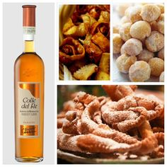 sfrappole and fried Tagliatelle: enjoy them with our Albana Passito Colle del Re #EmiliaRomagna #Bologna #sweet