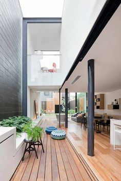 Contemporary extension of Victorian terrace home in Australia by Matt Gibson Architecture + Design