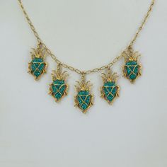 Askew London Signed Five Scarab Drops Necklace and Scarab Drop Earrings Set   eBay