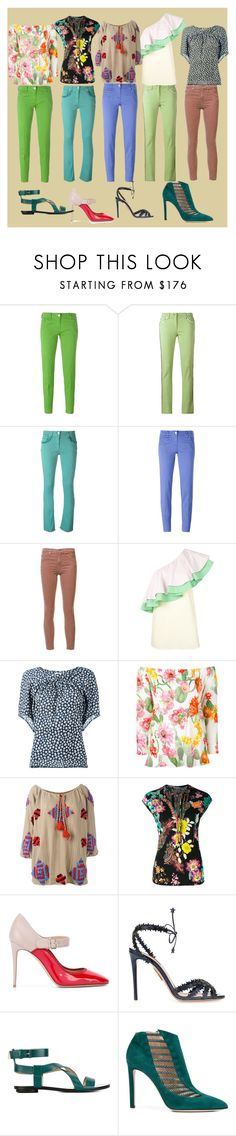 """Different is beautiful"" by ramakumari ❤ liked on Polyvore featuring Jacob Cohёn, Etro, AG Adriano Goldschmied, VIVETTA, Christian Wijnants, Blugirl, Mochi, Valentino, Aquazzura and Stella Luna"