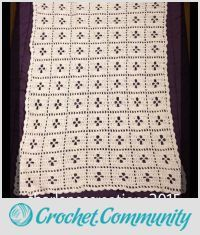 EDITOR'S CHOICE (02/26/2016) Midwife Baby Blanket by CharlenesCreations  View details here: http://crochet.community/creations/4237-midwife-baby-blanket