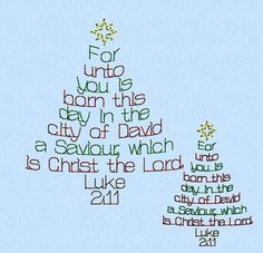 Luke 211 Christmas Tree Words machine embroidery by lynellen, $2.50