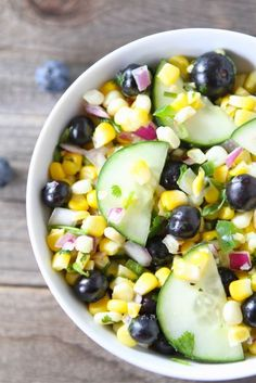 Blueberry Corn Salad - from @Maria (Two Peas and Their Pod)