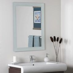 Sandblasted Border Wall Mirror Mirror 315H x 235W x 5D ** Click image to review more details.