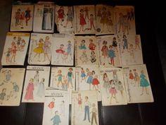 Lot 3 Vintage Sewing Patterns Children Boys Girls Lot of 20 Advance Simplicity