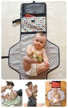 Skiphop The Pronto Changing Station is a must-have. It is so easy to take this when you are on the go or at a restaurant instead of a whole diaper bag to change a diaper. Leighton doesn't mind laying on the changing pad. Sewing For Kids, Baby Sewing, Baby Kind, Baby Love, Baby Changing Station, Changing Pad, Baby Must Haves, Everything Baby, Baby Crafts