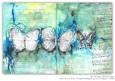 Watercolor Background and Stamping Journal Page with Fiona