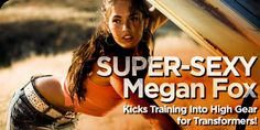 Megan Fox HIIT workout. The workout her trainer made her do for Transformers. O.M.G. hard. I just did it and I love it! It can be done on a bike, elliptical, treadmill, stair master, or the good ol'  open road.