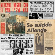 Línea de tiempo: La prensa en septiembre de 1973 | Puroperiodismo Military Dictatorship, Latina, I Want To Know, Nostalgia, Things I Want, America, Memories, Medusa, Pictures