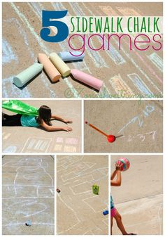 5 Sidewalk Chalk Games