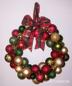 Dollar Store Ornaments Ornament Wreath