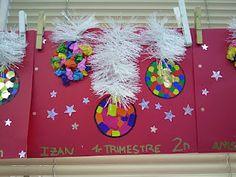 tapa de navidad Tapas, Christmas Albums, Infant Crafts, Christmas Crafts, Class Decoration, Merry Christmas Card, Monsters, Preschool, Kids