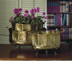 3 Pc Embossed Footed Planters Set >>> Click on the image for additional details.