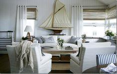 white canvas covers for a beach house - via Cote de Texas