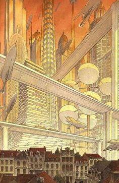 Comic book illustrations by François Schuiten