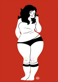 """Sexy as Hell! Pinup, Art Beauté, Art Et Design, Plus Size Art, Fat Art, Chubby Girl, Pin Up Art, Character Design Inspiration, Big And Beautiful"