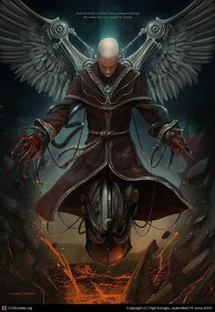 Azazel - guilty of teaching humans the forbidden arts of science and technology, cast out of heaven for his efforts.