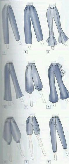 Types of pants - Best Fashions for All Dress Design Sketches, Fashion Design Sketchbook, Fashion Design Drawings, Fashion Sketches, Fashion Terms, Fashion Art, Fashion Outfits, Fashion Drawing Dresses, Clothing Sketches