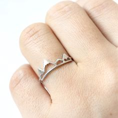 Mountain Ring/ choose your color- gold, silver and pink, mountain peak ring by laonato on Etsy https://www.etsy.com/uk/listing/264826921/mountain-ring-choose-your-color-gold