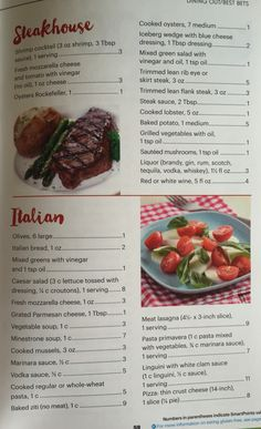 Weight Watchers SmartPoints Dining Out Best Bets Page 2