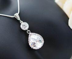 Bruiloft sieraden bruids juwelen Bridal ketting door earringsnation