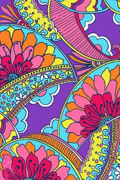 Colorful paisley iphone wallpaper