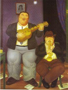 Los Músicos, 1986 - Fernando Botero - WikiArt.org